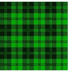 Green tartan wool material vector