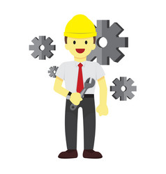 happy professional repairman graphic vector image