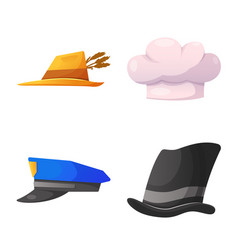 headgear and cap icon vector image