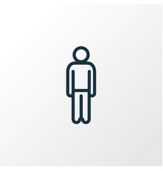 human outline symbol premium quality isolated man vector image