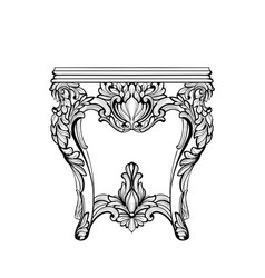 Imperial baroque console table french luxury vector
