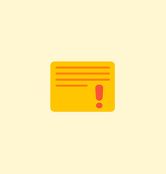 Important task icon flat element vector