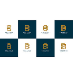 initial letter b abstract logo design template vector image