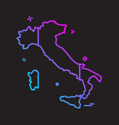 italy map icon design vector image