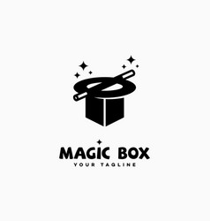 Magic box logo vector