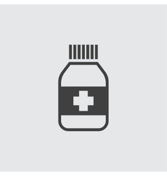 Medicine bottle icon vector image