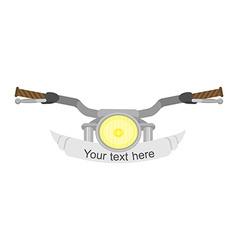 Motorcycle steering wheel vector