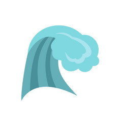 Ocean wave icon cartoon style vector