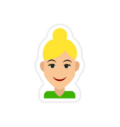 Paper sticker on white background womens vector
