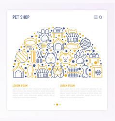 pet shop concept in half circle vector image