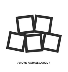 Photo frames layout vector
