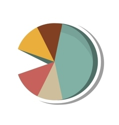 Pie infographic statistics isolated icon vector