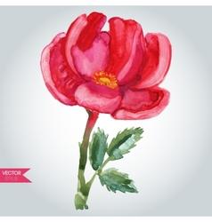 Pink wild rose vector