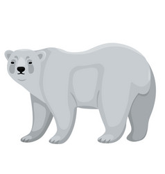 polar bear isolated on white background graphics vector image