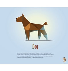 polygonal of brown dog modern pet icon low poly vector image