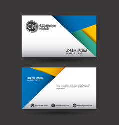 presentation card design vector image