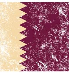 Qatar retro flag vector