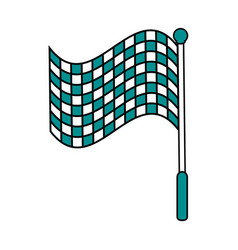 Racing flag flat vector