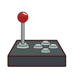Retro gamepad videogame cartoon vector
