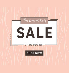sale banner template elegant fashion design vector image