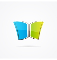 Simple book logo vector