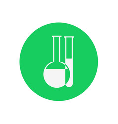simple chemical reaction tubes vector image