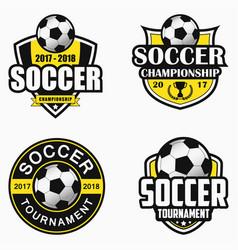 Soccer logo set vector