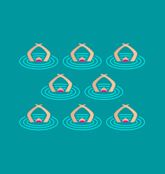 Synchronized swimming performance vector