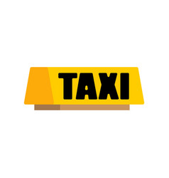 taxi car light sign isolated vector image