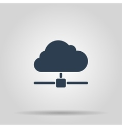 The universal icon on the cloud computing vector image