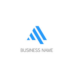 triangle line business logo vector image