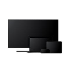 Tv laptop tablet computer smartphone vector