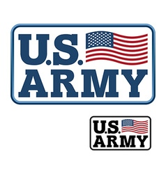 US Army Emblem for army of America Flag of United vector image