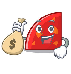 with money bag quadrant character cartoon style vector image