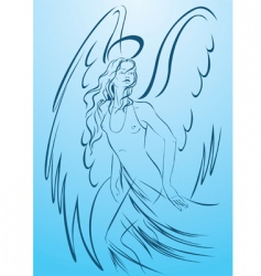 Woman angel vector