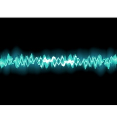 Abstract blue waveform EPS 8 vector image