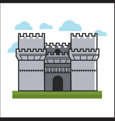 big castle on grass vector image