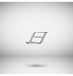 blank film strip icon vector image vector image