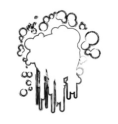 blurred sketch silhouette ink splash paint icon vector image