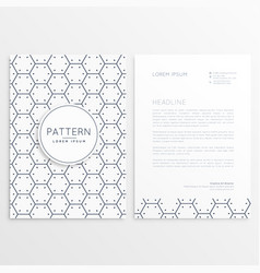company brochure with minimal pattern vector image vector image