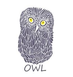 Doodle owl vector image vector image