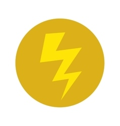 energy bolt icon vector image