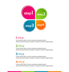 minimalistic infographic template vector image