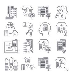 web icon set real estate property realtor keys vector image