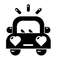 wedding car icon simple style vector image