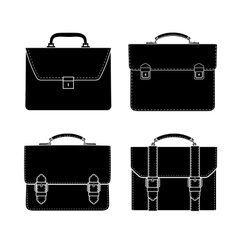briefcase black and white icon vector image vector image
