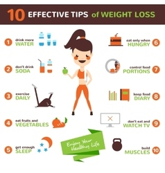 Diet Infographic Set vector image