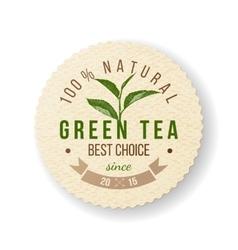 Green Tea label vector image vector image