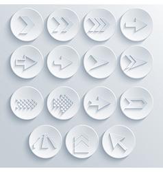 Arrow circle icon set eps 10 vector