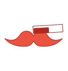 barbershop comb with mustache vector image